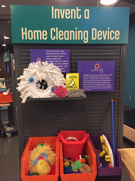 Graphics and materials for the Invent a Home Cleaning Device activity station