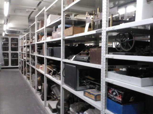 Inside the Physical Sciences collections storage area.