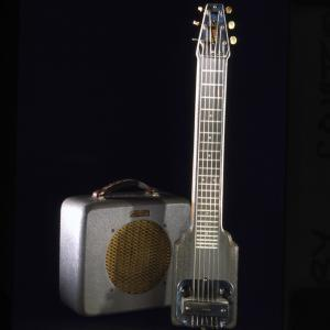 Image of a K&F Lap Steel Guitar with Amplifer