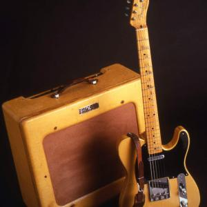 Image of Fender Broadcaster Guitar and Amplifier