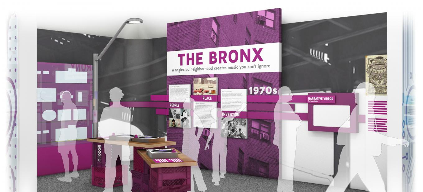 Rendering of the Bronx section of the exhibition