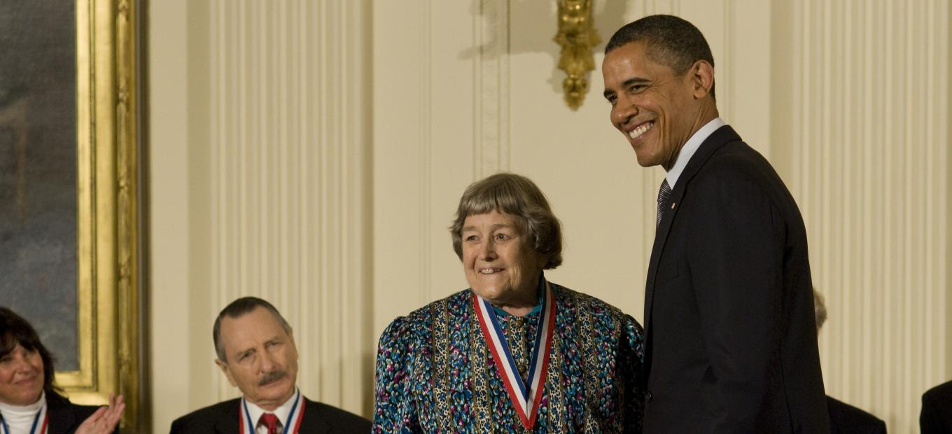 Yvonne Brill receives national medal from President Obama