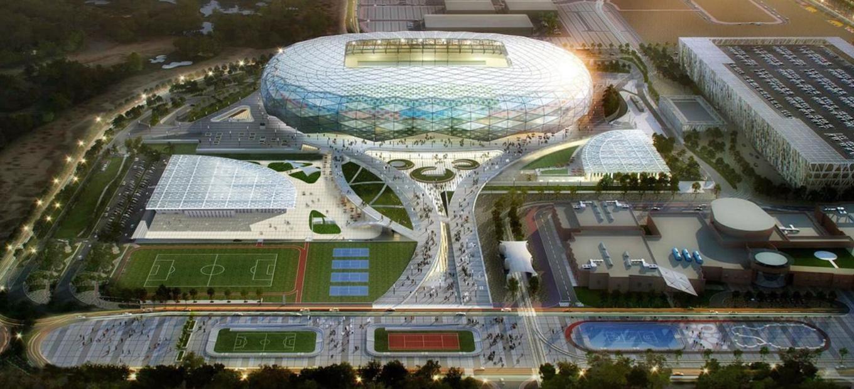 Artist's rendering of Education City Stadium, Doha, Qatar