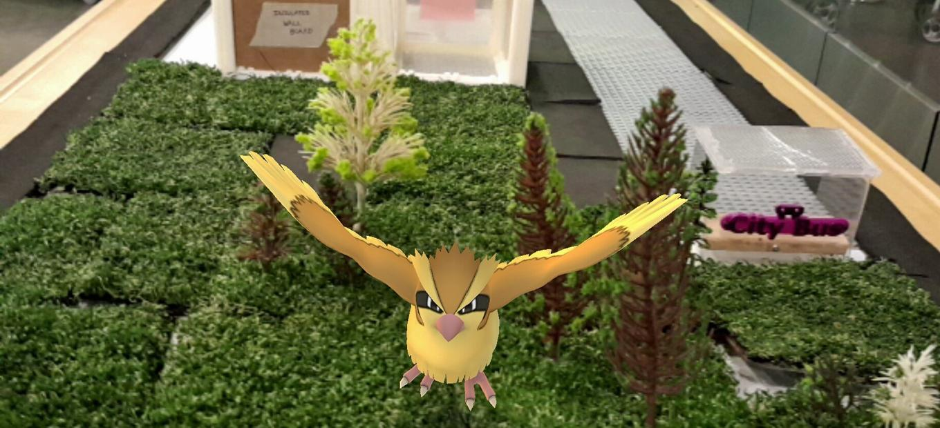 Pidgey at the design a planet-friendly city activity