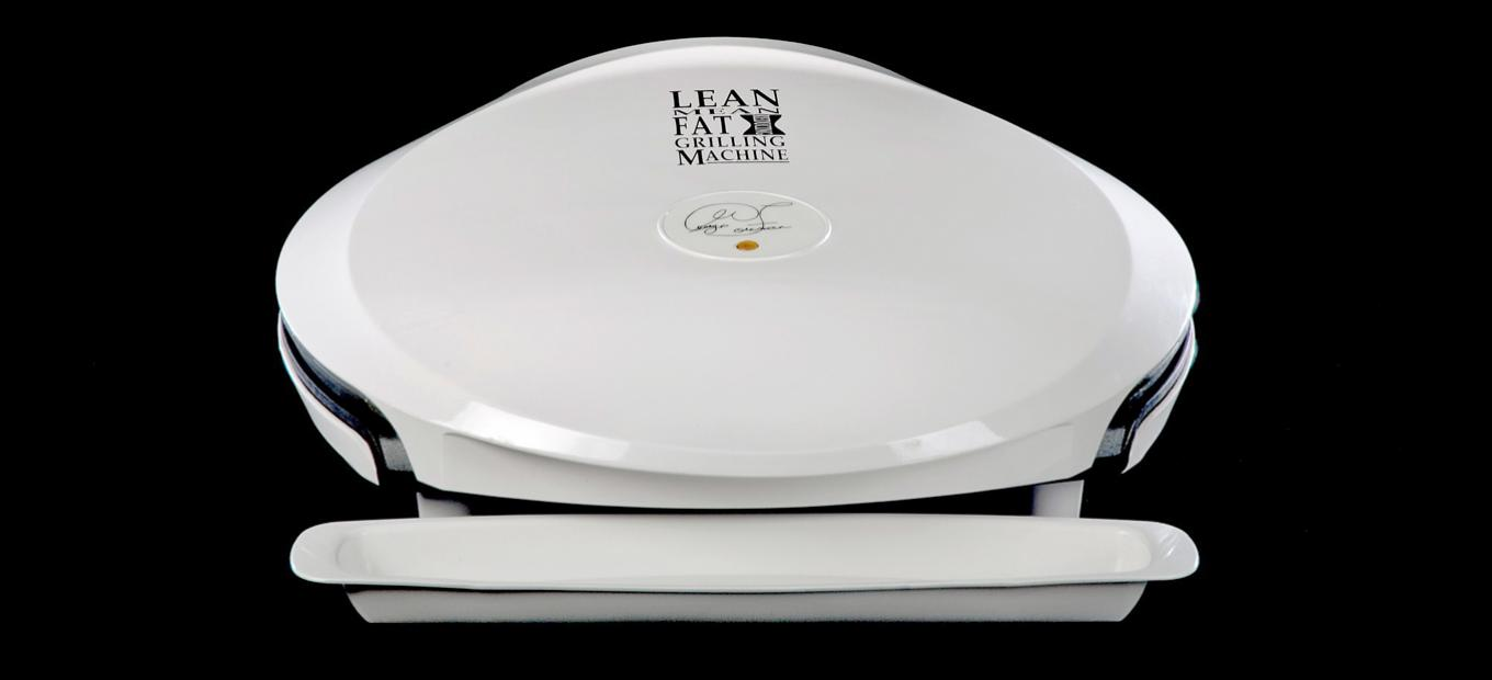 George Foreman Grill with lid closed, about 1995