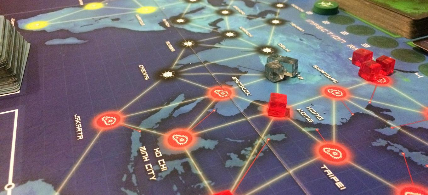 View of Pandemic board game