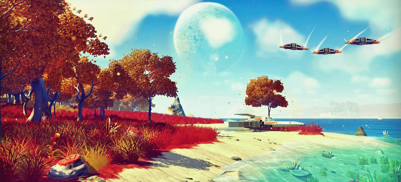 Screenshot of New Eridu from No Man's Sky video game