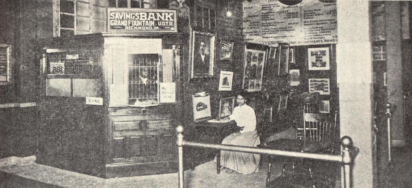 The Negro Building featured a working branch of the black-owned and operated True Reformer's Bank of Richmond.