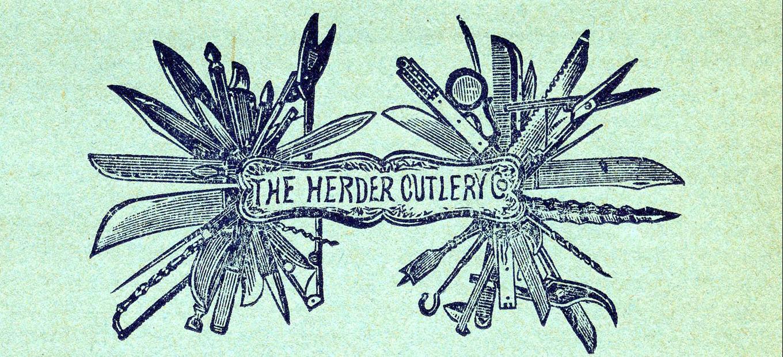 Mast head of price list, Herder Cutlery Company, Philadelphia, Pennsylvania, 1889