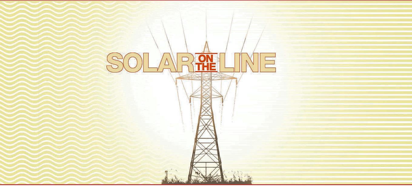 Solar on the Line exhibition title graphic