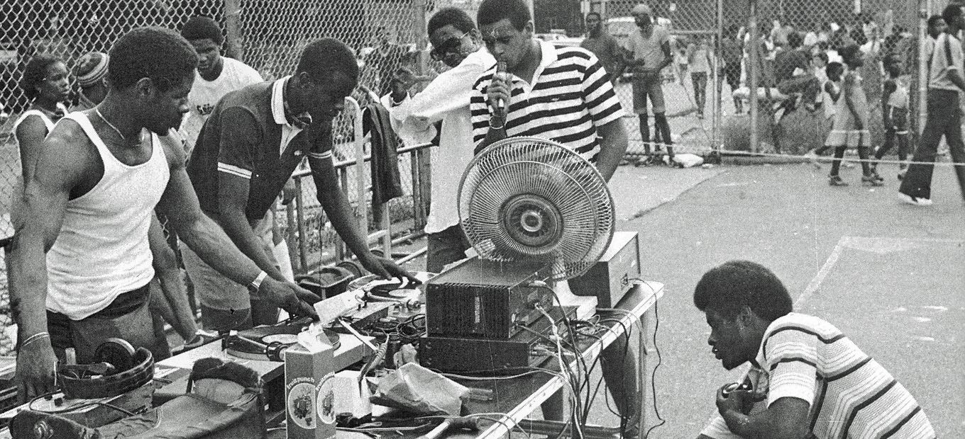 Hip-hop gathering in a park in the Bronx