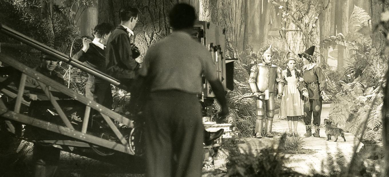 Technicolor cameraman on the set of The Wizard of Oz