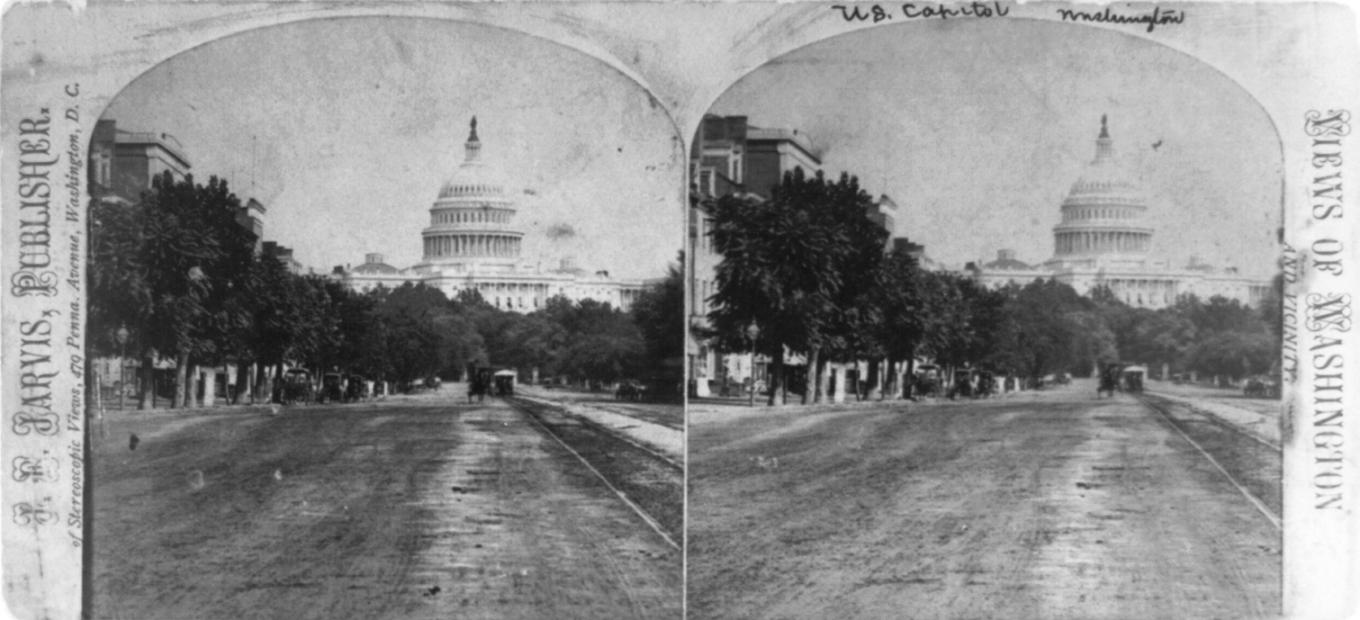 Historic view of the Capitol and the National Mall