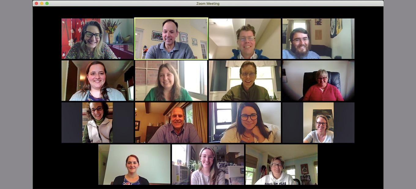 Zoom screen with Lemelson Center team members