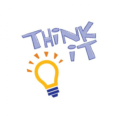Think It Graphic with lightbulb