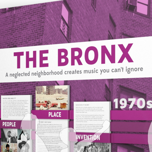 Rendering of the Bronx section of Places of Invention
