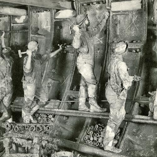 Men working inside the tunnel