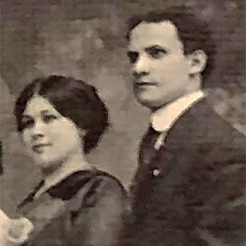 Studio portrait photo of Ida and William Rosenthal