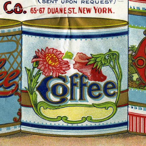 Lithographed color coffee labels by Price Bros. and Co.
