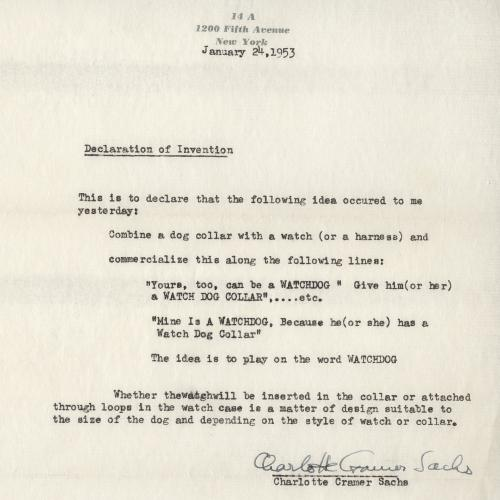 Images of a letter from the archives center.