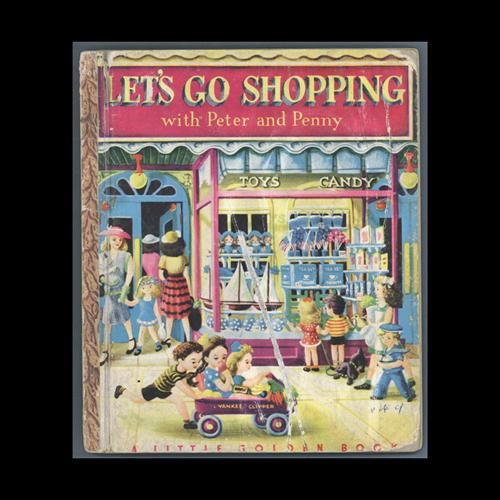 Cover of Let's Go Shopping with Peter and Penny children's book