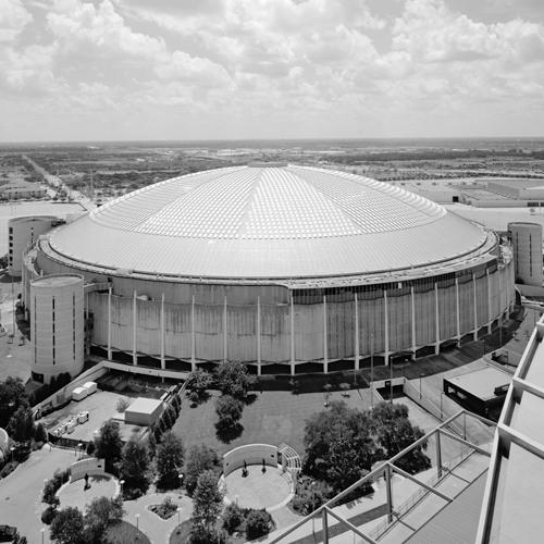 Exterior of Houston Astrodome stadium