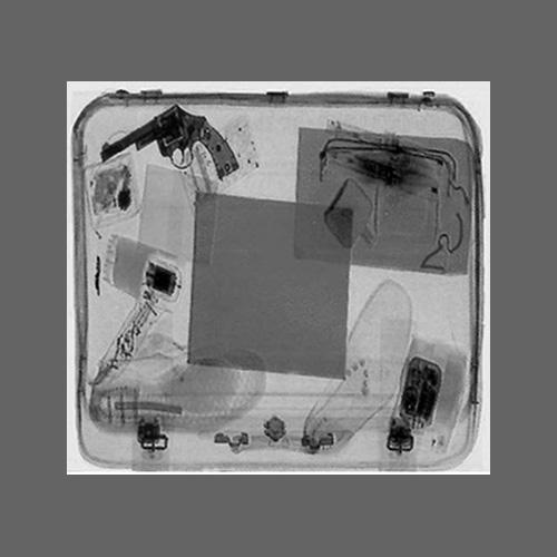 X-ray image of contents of a briefcase