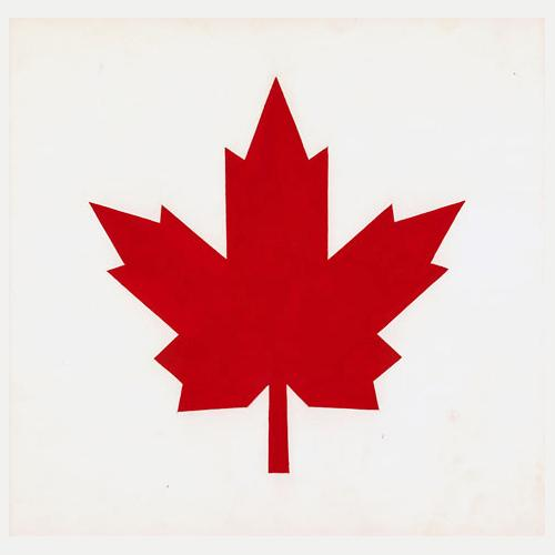 Red maple leaf design from the Canadian flag.