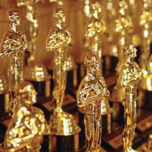 Numerous Oscar statuettes