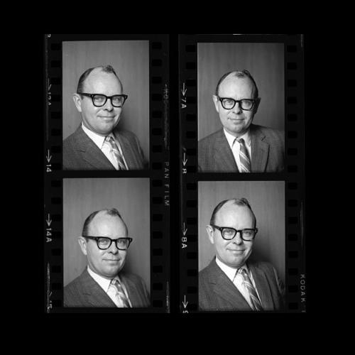 Film negatives of portrait of Elliot Sivowitch