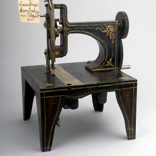 Issac Singer's Sewing Machine Patent Model, 1851.