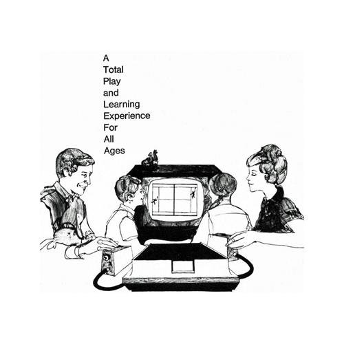 Illustration of a family playing Magnavox Odyssey games
