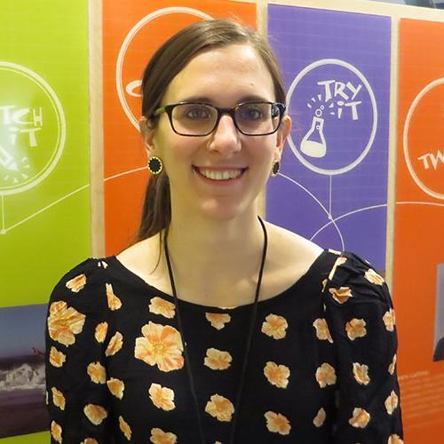 Spark!Lab Floor Manager Jocelyn Knauf