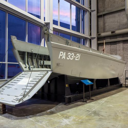 A LCVP (Landing Craft, Vehicle, Personnel) created by Higgins Industries