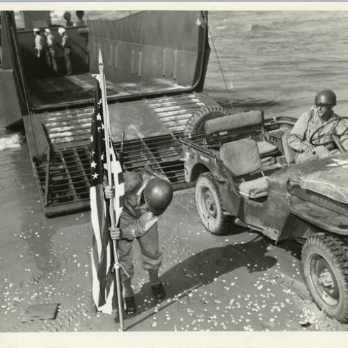 10,000th Boat Ceremony, July 23, 1944. Courtesy of The National WWII Museum