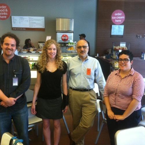 Our fabulous Lemelson Center Fellows, left to right: Matthew Hockenberry, Hallie Lieberman, Steven Wilf, and Aimi Hamraie.
