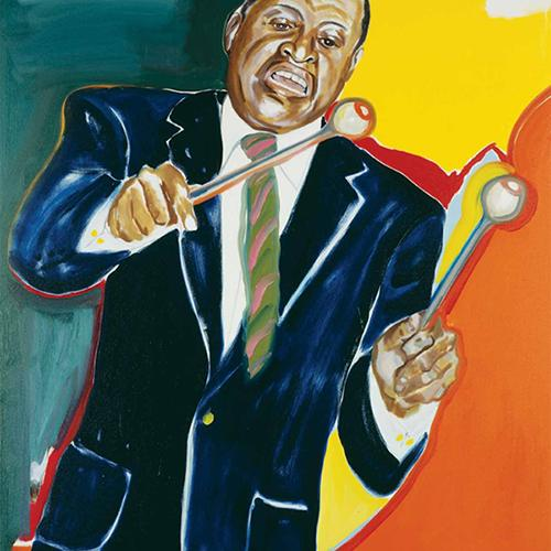 Legendary vibraphone virtuoso and bandleader Lionel Hampton graces the 2013 Jazz Appreciation Month poster.
