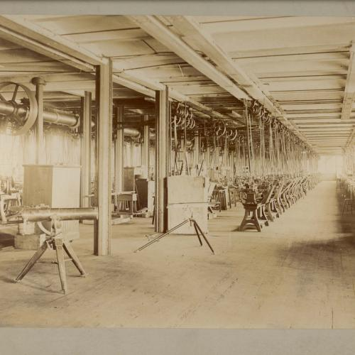 An illustration of the interior of the Colt Armory