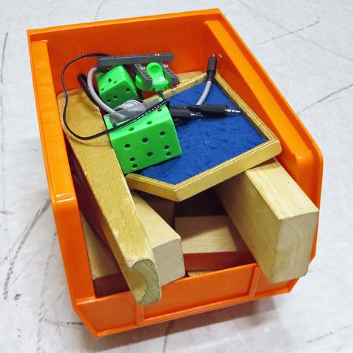 Bin full of ultrasonic sensor activity components