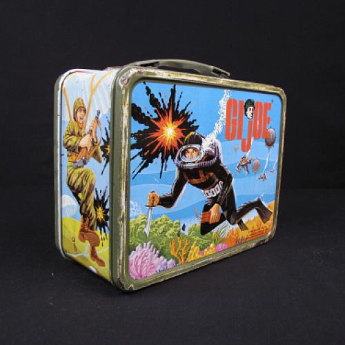 Lunch box featuring G.I. Joe, from the collections at the National Museum of American History