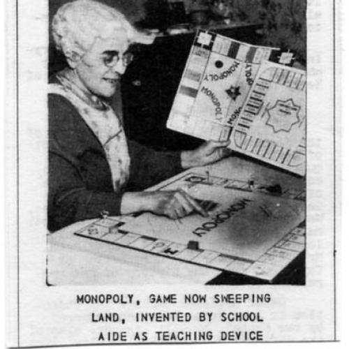 "Elizabeth Magie Phillips, inventor of ""The Landlord's Game,"" a precursor to ""Monopoly"""