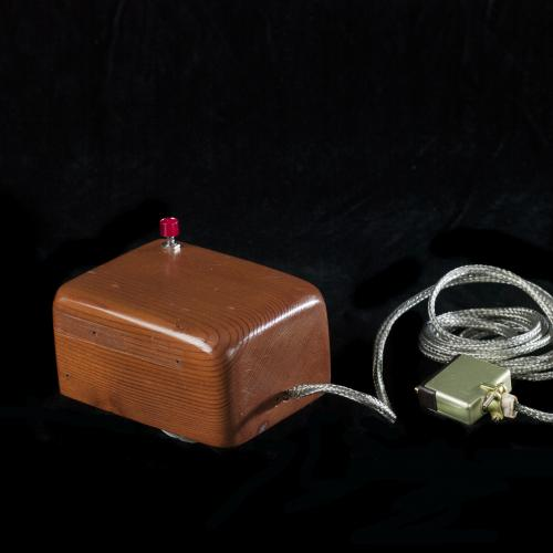 Prototype of the first computer mouse