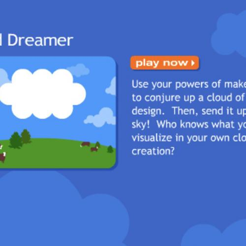 Start screen for Cloud Dreamer game