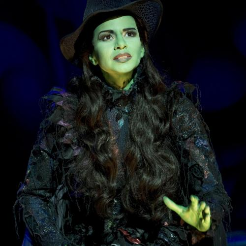 Mandy Gonzalez as Elphaba in Wicked.