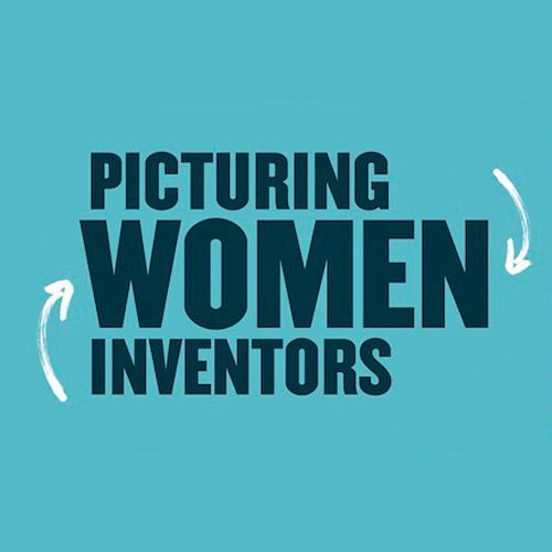 Title logo for Picturing Women Inventors exhibition