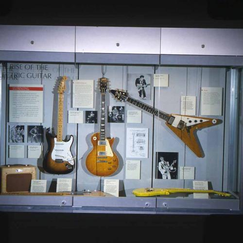 A case in the 1996 electric guitar exhibition