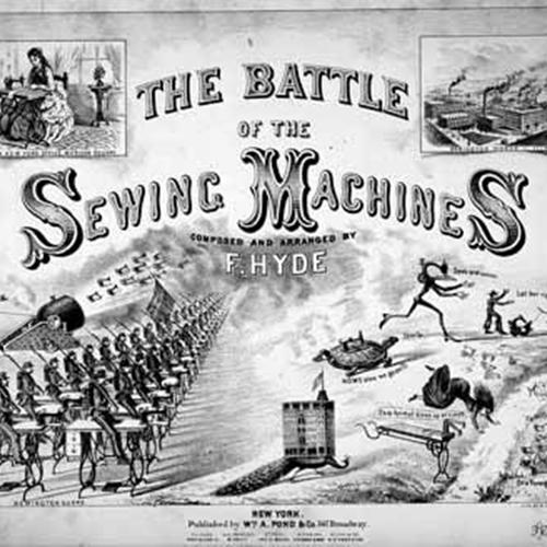 Battle of the Sewing Machines Sheet Music Cover