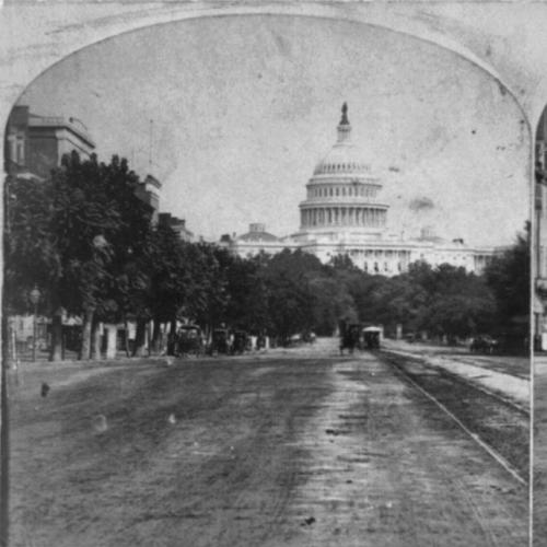 Historical view of the Capitol and the National Mall