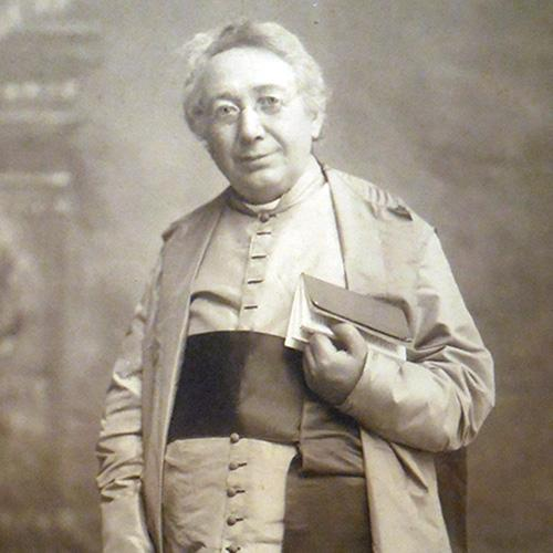 Section of full-length photo of Bouchet in clerical robes