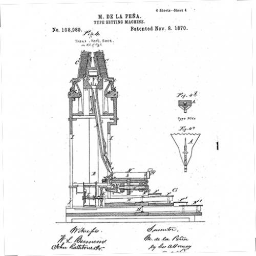 Section of patent drawing